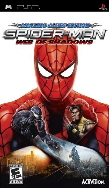 Resultado de imagen de spiderman web of shadows psp